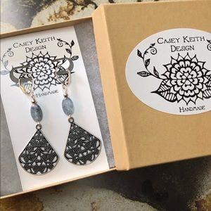 Casey Keith Design Jewelry - Swirling Dangle Kyanite Earrings